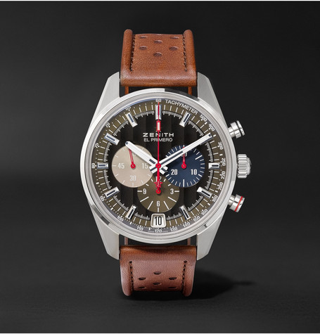 El Primero Classic Cars 42mm Stainless Steel And Leather Watch - Brown