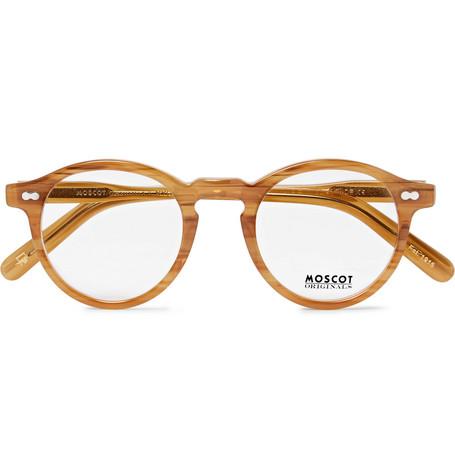 moscot male moscot miltzen roundframe acetate optical glasses tan
