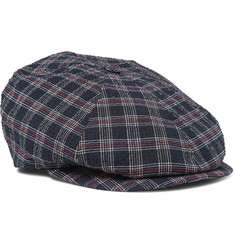 Lock & Co Hatters Checked Cotton Flat Cap