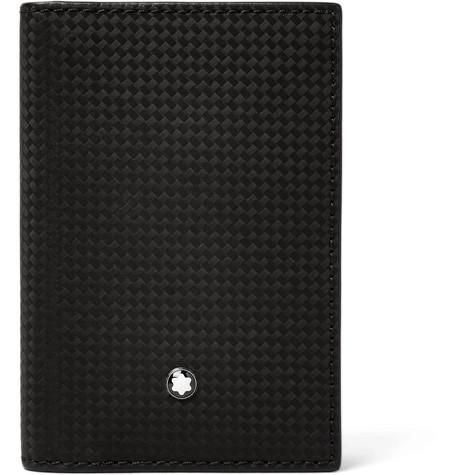 MONTBLANC Westside Extreme Textured-Leather Cardholder - Black - One Siz