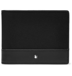 Montblanc Nightflight Leather and Nylon Billfold Wallet