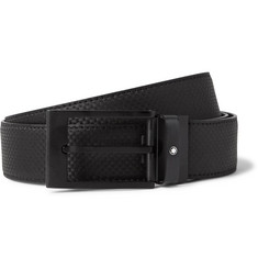 Montblanc - 3cm Extreme Textured-Leather Belt