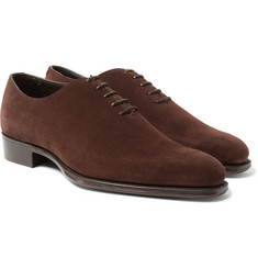 Kingsman - + George Cleverley Merlin Whole-Cut Suede Oxford Shoes