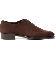 Kingsman + George Cleverley Merlin Whole-Cut Suede Oxford Shoes