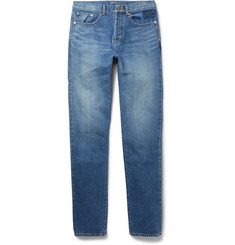 Saint Laurent Slim-Fit 17cm Hem Washed-Denim Jeans