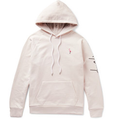 Second/Layer Embroidered Loopback Cotton-Jersey Hoodie