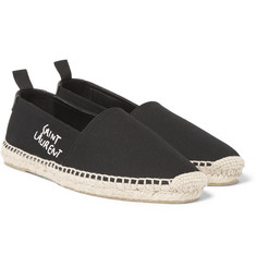 Saint Laurent - Embroidered Canvas Espadrilles