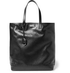 Saint Laurent Perforated Leather Tote Bag