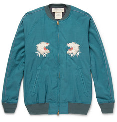 Remi Relief Embroidered Voile Bomber Jacket
