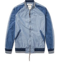Remi Relief Panelled Denim Bomber Jacket