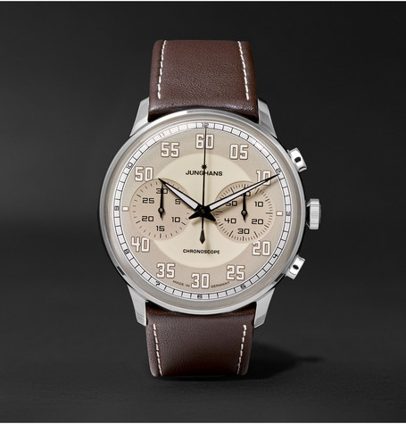 Meister Driver Chronoscope 40mm Stainless Steel And Leather Watch - Brown