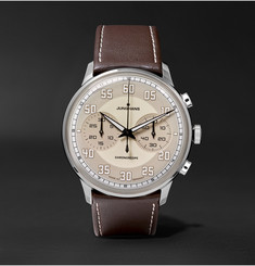 Junghans Meister Driver Chronoscope Stainless Steel and Leather Watch