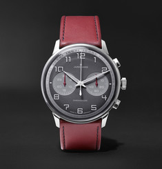 Junghans - Meister Driver Chronoscope 45mm Stainless Steel and Leather Watch