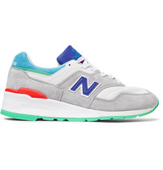 New Balance 997 Suede, Leather and Mesh Sneakers