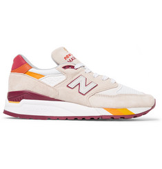 New Balance 998 Coumarin Pack Suede, Leather and Mesh Sneakers