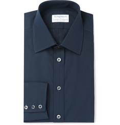 Kingsman - + Turnbull & Asser Blue Cotton-Poplin Shirt