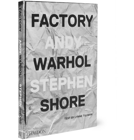 Phaidon Factory: Andy Warhol Stephen Shore Hardcover Book In Black