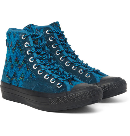 b2c61fb6c641 Converse Missoni All Star Chuck  70 Hiker BouclÉ And Suede Sneakers In  Petrol