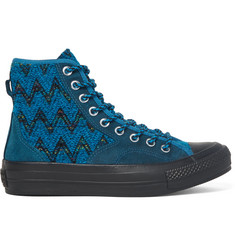 Converse + Missoni All Star Chuck '70 Hiker Bouclé and Suede Sneakers