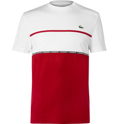 Lacoste Tennis - Colour-Block Tech-Piqué Tennis T-Shirt