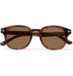 TOM FORD Frank Tortoiseshell Acetate D-Frame Sunglasses