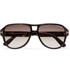 TOM FORD Dylan Aviator-Style Tortoiseshell Acetate Sunglasses