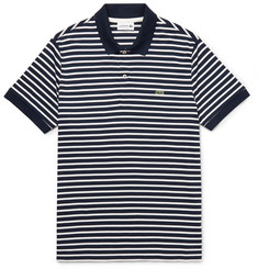 Lacoste Striped Cotton-Jersey Polo Shirt