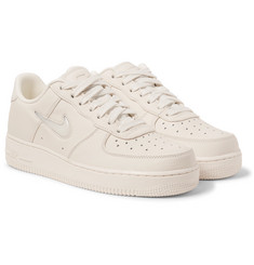 Nike NikeLab Air Force 1 Jewel Swoosh Leather Sneakers