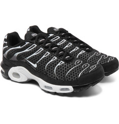 Nike - NikeLab Air Max Plus Nubuck-Trimmed Mesh Sneakers