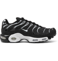 Nike NikeLab Air Max Plus Nubuck-Trimmed Mesh Sneakers