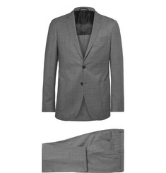 Hugo Boss Grey Nolton Slim-Fit Virgin Wool Suit