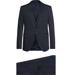 Hugo Boss Blue Slim-Fit Stretch-Cotton Suit