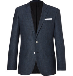 Hugo Boss - Blue Hutsons Slim-Fit Woven Blazer
