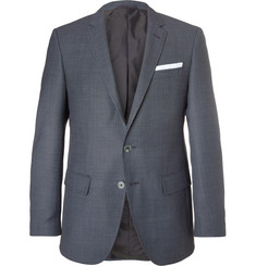 Hugo Boss Blue Hutsons Slim-Fit Virgin Wool Blazer