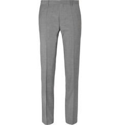Hugo Boss - Grey Genesis Slim-Fit Tapered Virgin Wool and Cashmere-Blend Trousers
