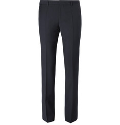 Hugo Boss Blue Genesis Slim-Fit Virgin Wool and Cashmere-Blend Trousers
