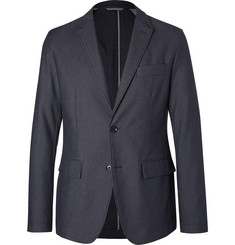 Hugo Boss Blue Narvik Slim-Fit Cotton-Blend Twill Blazer