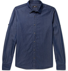 Hugo Boss Reid Slim-Fit Cotton-Chambray Shirt