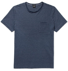Hugo Boss Tiburt Striped Cotton-Blend Jersey T-Shirt
