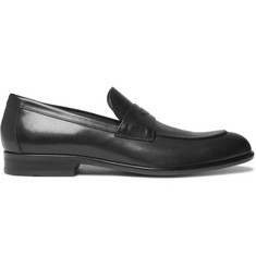 Hugo Boss Manhattan Polished-Leather Penny Loafers
