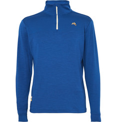 Tracksmith - Downeaster Merino Wool-Blend Jersey Half-Zip Top