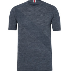 Tracksmith Brighton Perforated Merino Wool-Blend Base Layer