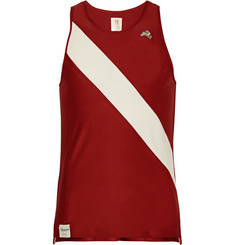 Tracksmith Van Cortlandt Striped Mesh Tank Top
