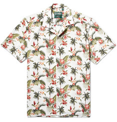 Gitman Vintage - Camp-Collar Printed Slub Cotton Shirt