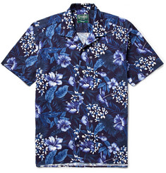 Gitman Vintage - Camp-Collar Floral-Print Cotton Shirt
