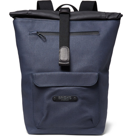 Brooks England - Rivington Water-Resistant Canvas Backpack - Blue
