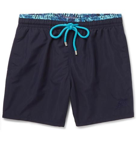 Vilebrequin Moloka Mid-length Swim Shorts In Midnight Blue