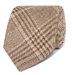 Kingsman + Drake's 8cm Checked Wool, Silk and Linen-Blend Tie