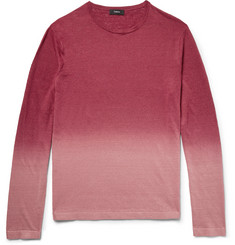 Theory - Preston Dégradé Slub Linen-Blend Sweater