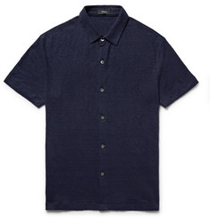 Theory Slim-Fit Slub Linen Shirt
